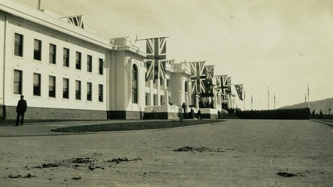 Old Parliament House, at its 1927 opening. Picture: Museum of Australian Democracy