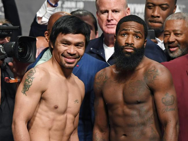 Manny Pacquiao and Adrien Broner. Ethan Miller/Getty Images/AFP