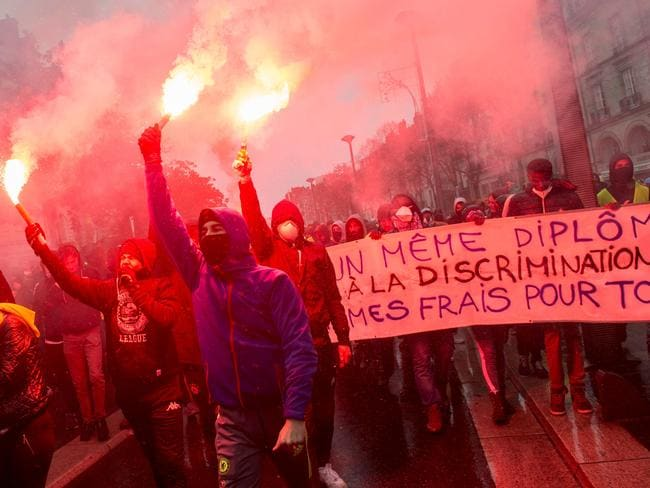 The riots in France ar not connected to the Paris climate agreement but to taxes imposed on fuel which will raise prices across the board. Picture: AFP