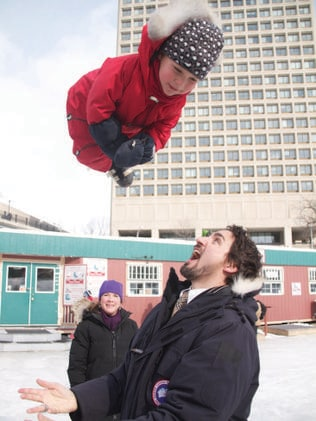 Clowning around with babies is Justin Trudeau's specialty. Photo: Supplied