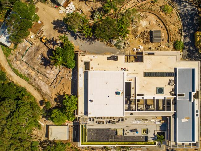 The latest aerial view of the Hemsworth mansion taking shape. Picture: MEGA