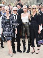 Katy Perry, Karl Lagerfeld, Cara Delevingne and Claudia Schiffer attend the Chanel Haute Couture Fall/Winter 2017-2018 show as part of Haute Couture Paris Fashion Week on July 4, 2017 in Paris, France. Picture: Getty