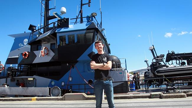 Captain Peter Hammarstedt of the Sea Shepherd's Bob Barker which has left to confront Japanese whaling ships in the Southern Ocean.