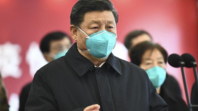 President Xi Jinping warned the public on the seventh day, but by that time 3000 people had been infected. Picture: Xie Huanchi/Xinhua via AP.