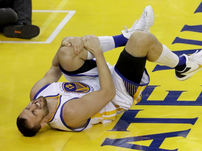 A knee injury in Game Five of the NBA Finals ruined Bogut's postseason.
