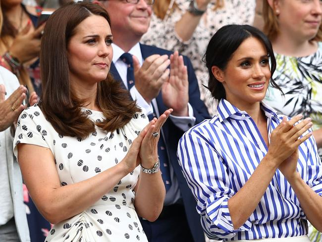 Catherine, Duchess of Cambridge and Meghan, Duchess of Sussex. Picture: Getty Images