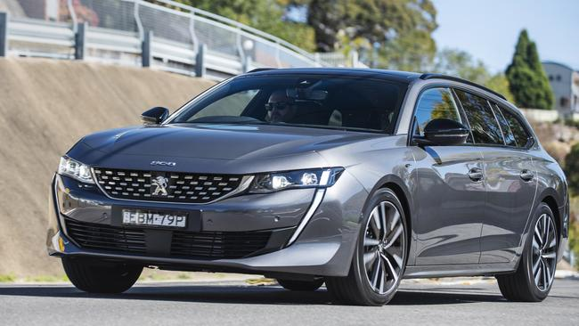 The Peugeot 508 wagon is a looker.