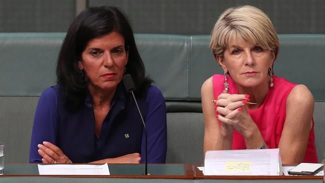 Julia Banks and Julie Bishop have both spoken out about the treatment of women in politics. Picture: Kym Smith
