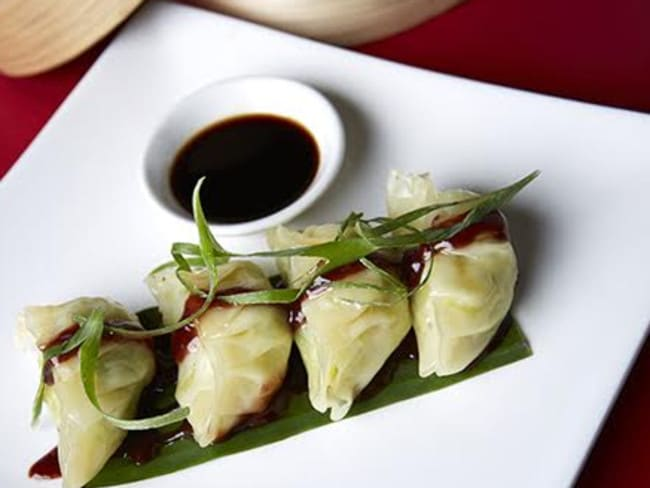 Divine steamed vegetarian dumplings from Yulli's.