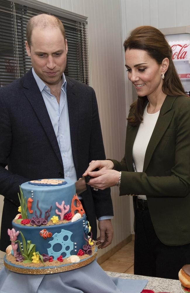 Kate and William made the comments during their visit to Cyprus to open a recreation centre. Picture: Arthur Edwards