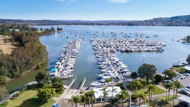 Marmong Marina in Lake Macquarie is the bigger of the two marinas.