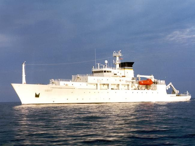 The USNS Bowditch, a civilian US Navy oceanographic survey ship, was recovering two drones on Thursday when a Chinese navy ship seized a drone. Picture: CHINFO, Navy Visual News via AP