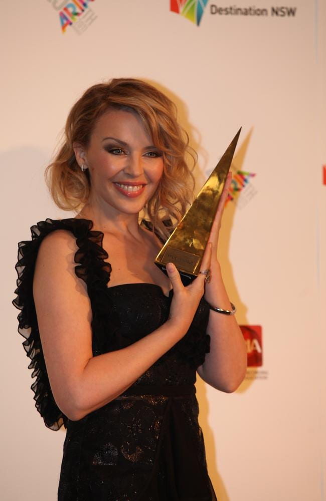 Our biggest pop princess Kylie Minogue came second in the News Corp Australia poll. Picture: News Corp Australia