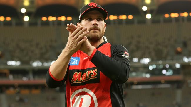 Aaron Finch is set to skipper the Renegades again.