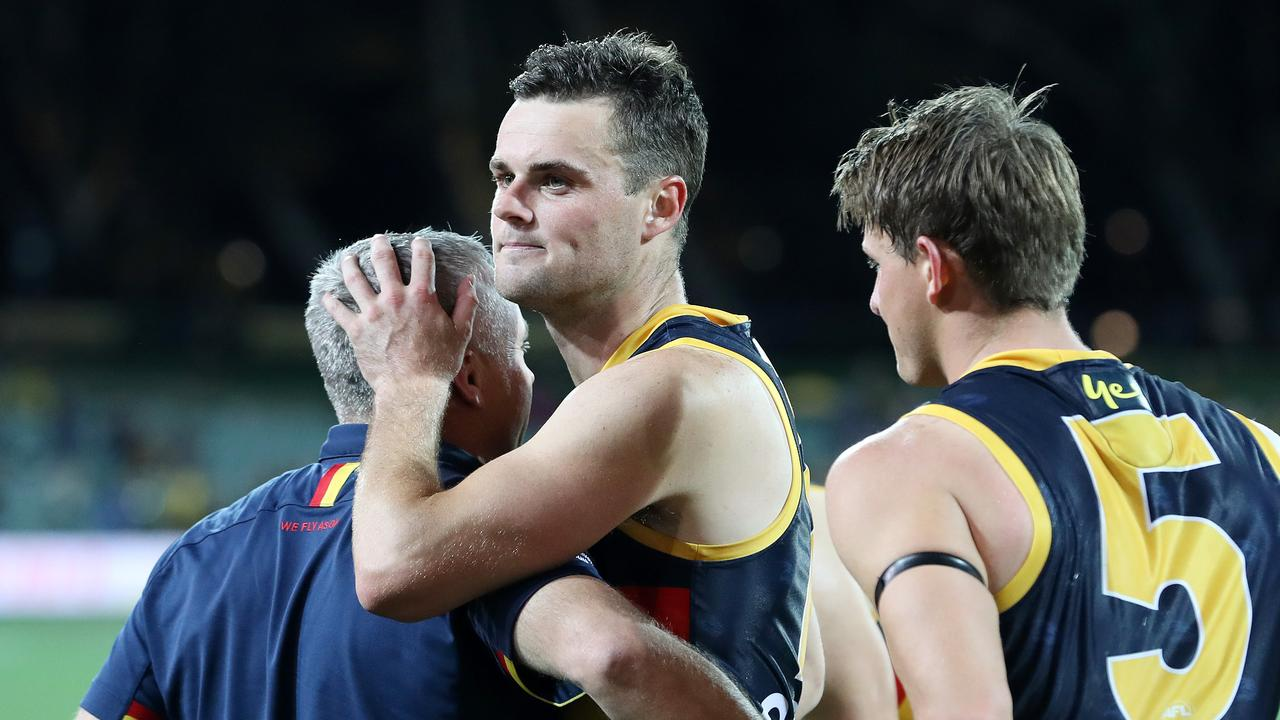 Adelaide will be sweating on St Kilda's offer to Brad Crouch. Picture: Sarah Reed