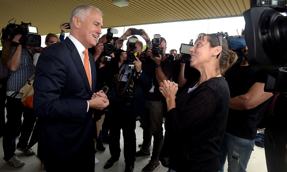 ELELECTION16 MALCOLM TURNBULL MELBOURNE