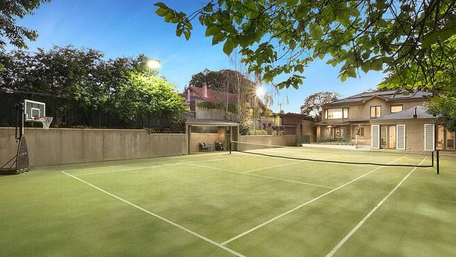 A tennis court and pool were among the luxury features you might expect.