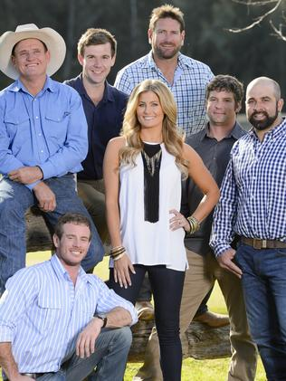 The new Farmer Wants a Wife contestants with host Sam McClymont.