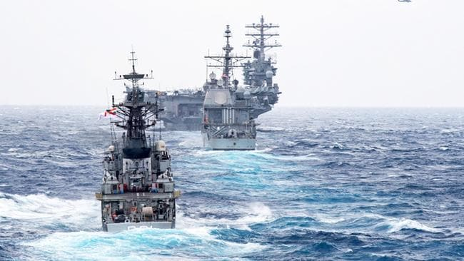 It was first spotted by the fearsome USS Princeton warship.