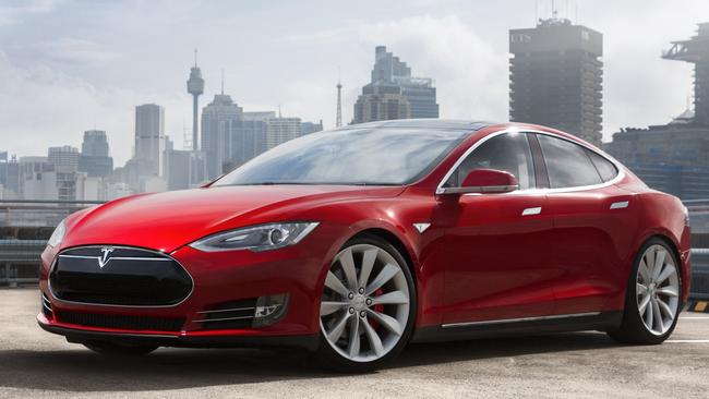 The Tesla Model S has significantly more range than the Porsche. Picture: Supplied.