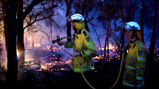 Fire crews are preparing for horror conditions across NSW on Tuesday. Picture: Saeed Khan/AFP
