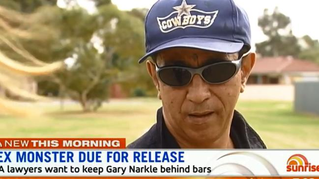 The WA Supreme Court will decide in September whether to declare serial sex monster Garry Narkle (above) a registered 'dangerous sex offender'. Picture: Sunrise.