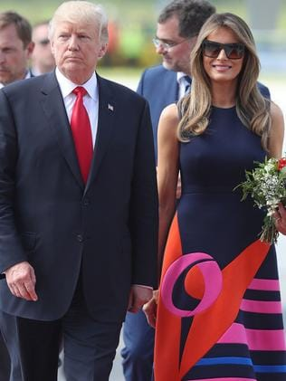 Melania Trump with husband, Donald. Picture: Sean Gallup/Getty Images