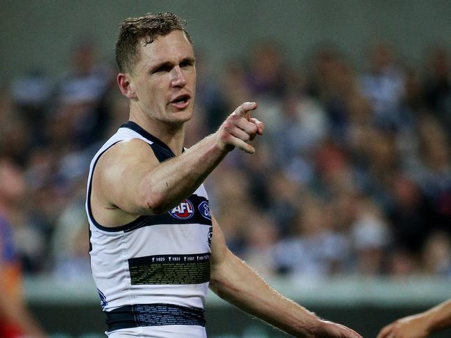 Geelong's Joel Selwood is favourite to win the Brownlow Medal. Picture: Colleen Petch