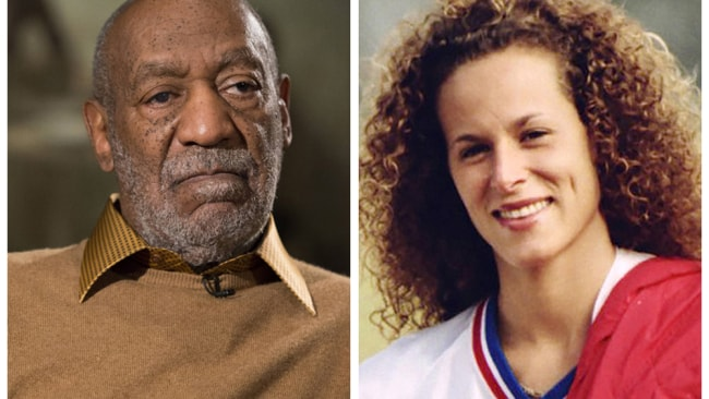 Bill Cosby and a file photo of Andrea Constand. Photos: AP Photo/Evan Vucci, left, and Ron Bull/Toronto Star/The Canadian Press via AP, right.