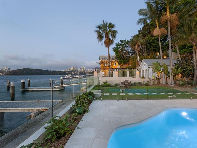 The property is one of a few absolute waterfront dwellings in Balmain East.