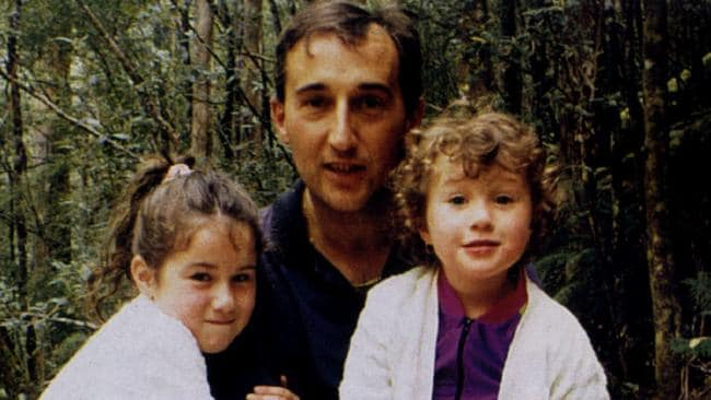 Walter Mikac husband and father of Port Arthur shooting massacre victims. Pictured with daughters Alannah and Madeline three months before they were killed.