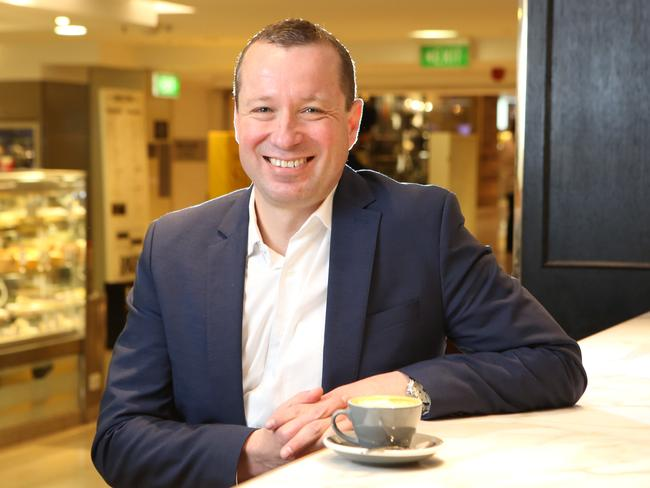 David Jones food group executive Pieter De Wet says the new stores will target high-end shoppers.