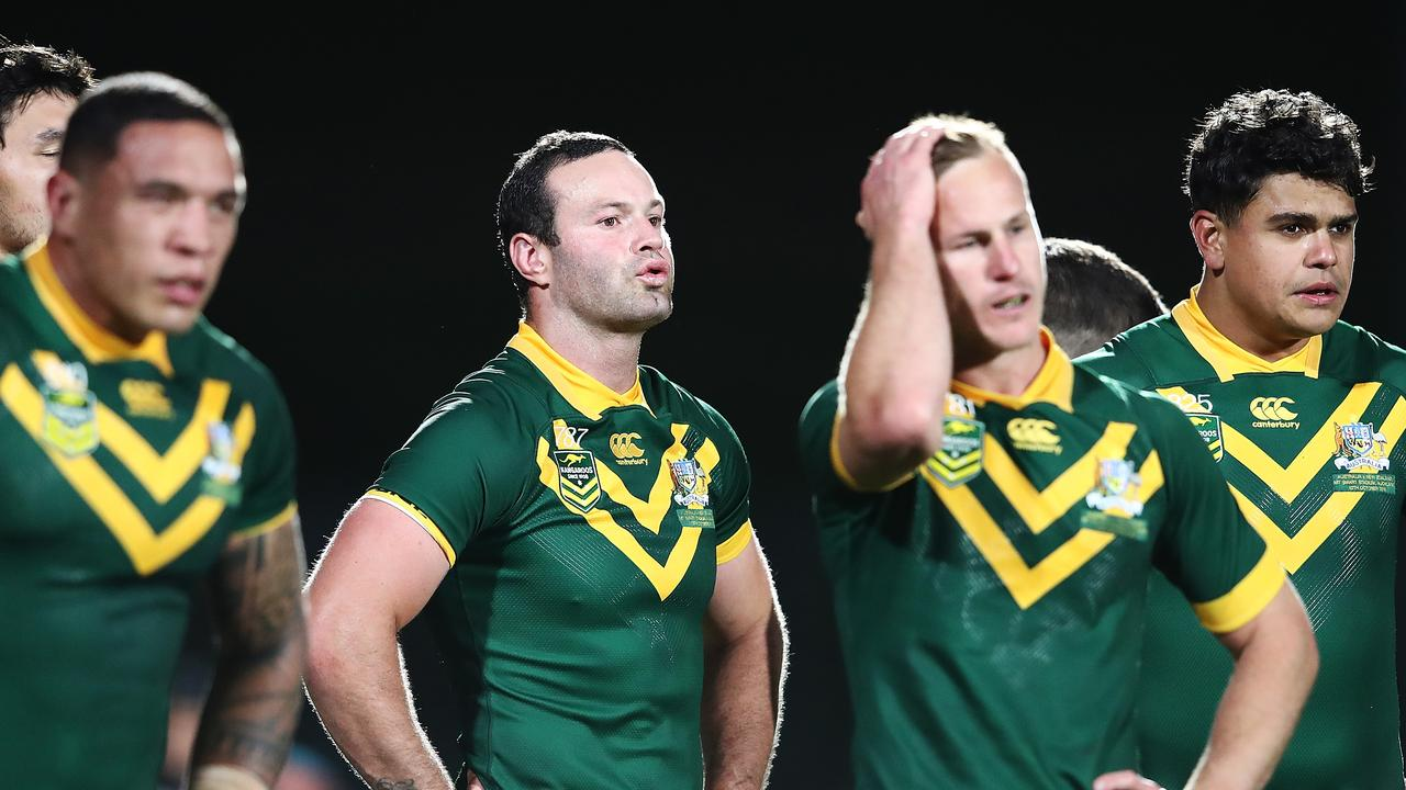 Boyd Cordner of Australia looks on after losing their October Test Match against the Kiwis in New Zealand. (Photo by Hannah Peters/Getty Images)