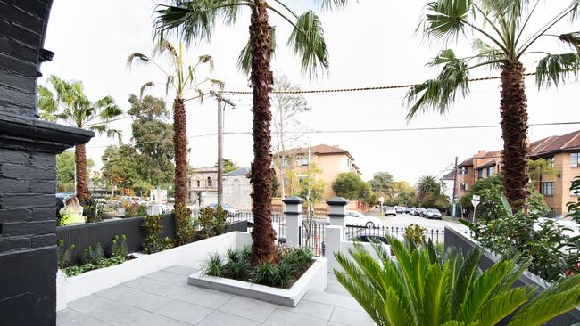 The judges loved the hero palm tree at the centre of the garden. Picture: The Block