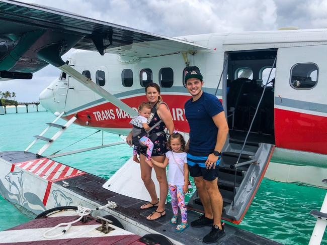 This family sold their possessions and saved up $80,000 so they could travel the world. Picture: MDW Features/Australscope