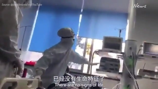 Horrifying footage from inside chaotic Wuhan hospital