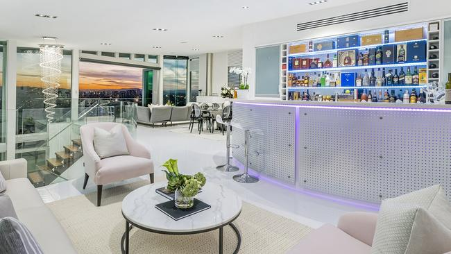 The home at 15 Wentworth Parade, Balmoral, comes with its own bar.