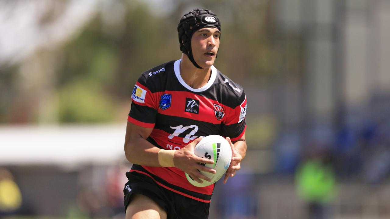 Joseph Suaalii in his debut for Sydney Roosters' feeder team the North Sydney Bears.