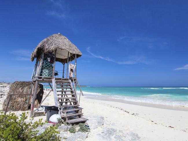 The stunning white sand beach at Cayo Largo, Cuba. Picture: iStock