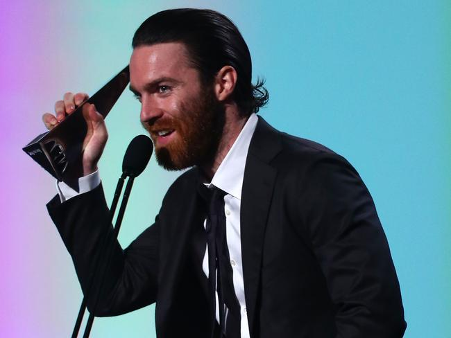 Chet Faker accepts the award for Best Male Artist ... wait, what award was it?