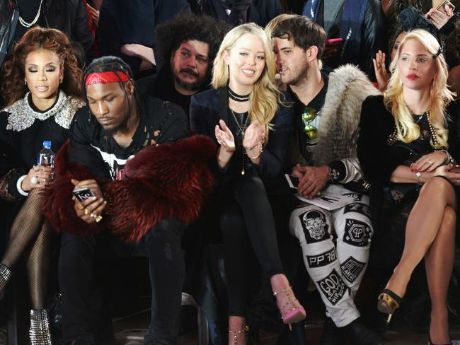 Tiffany Trump (centre) sat front row at New York Fashion Week. Picture: Getty