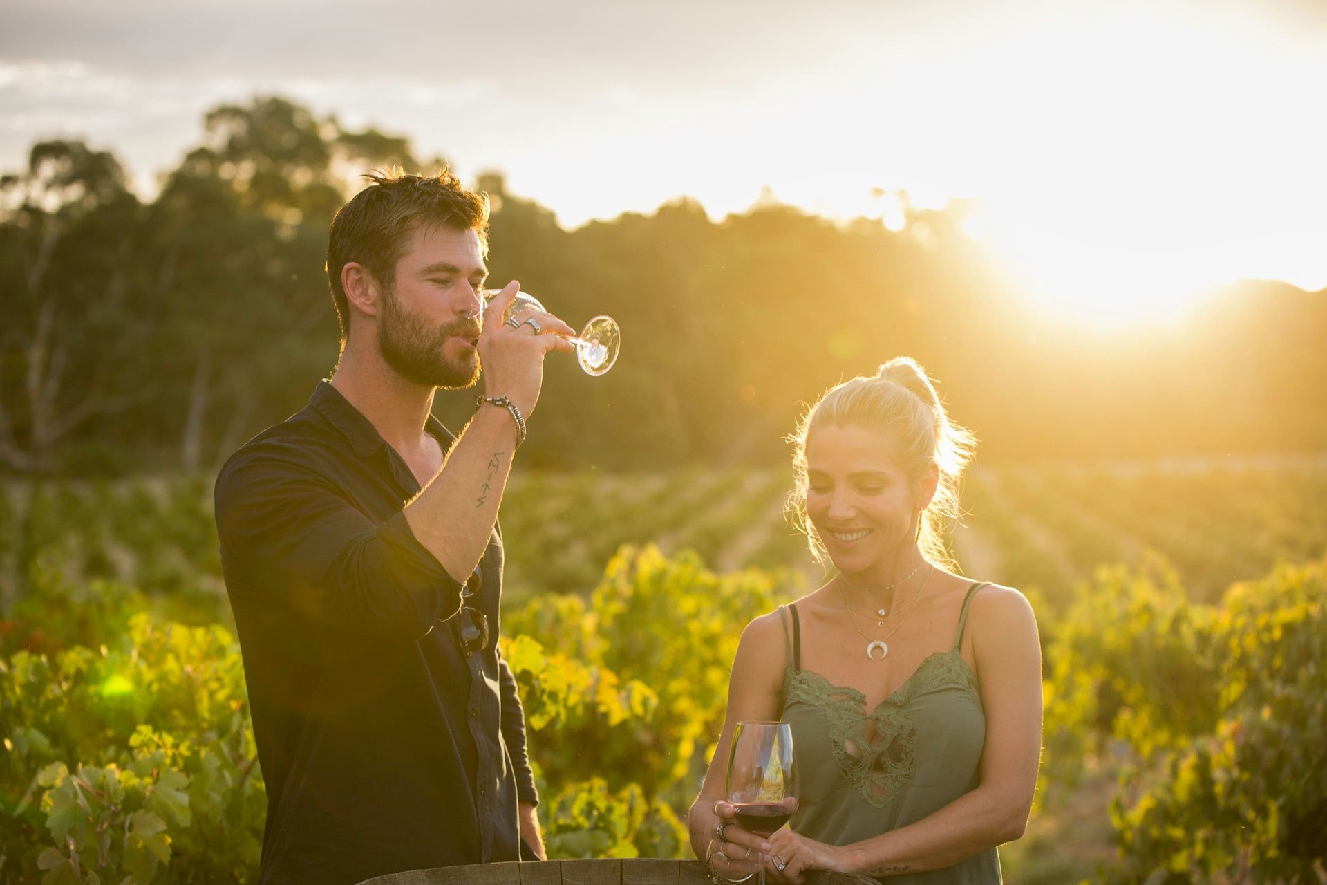 Chris Hemsworth and wife Elsa Pataky try winemaking