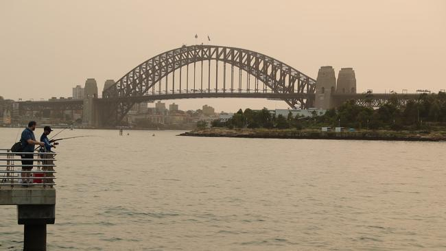 New Year's Eve celebrations will be affected by smoke today. Picture: Rohan Kelly