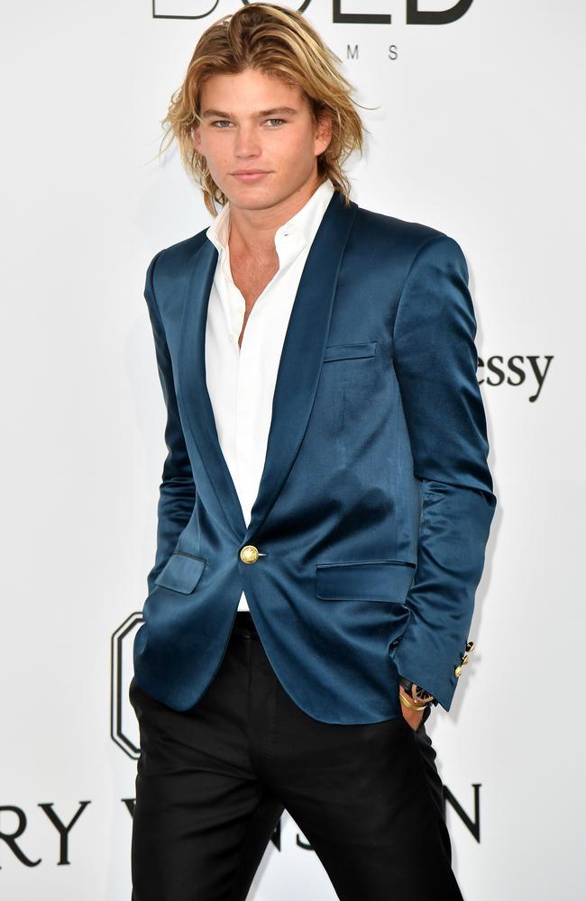 "a6dcb8244f77 Male model Jordan Barrett has his eyes set on entrepreneurship and acting.  Picture  AFP Photo  Alberto Pizzoli. """