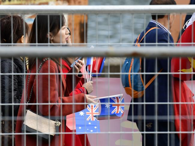 People are questioning how some members of the public knew about the arrival when no one else seemed to. Picture: Bianca De Marchi/AAP