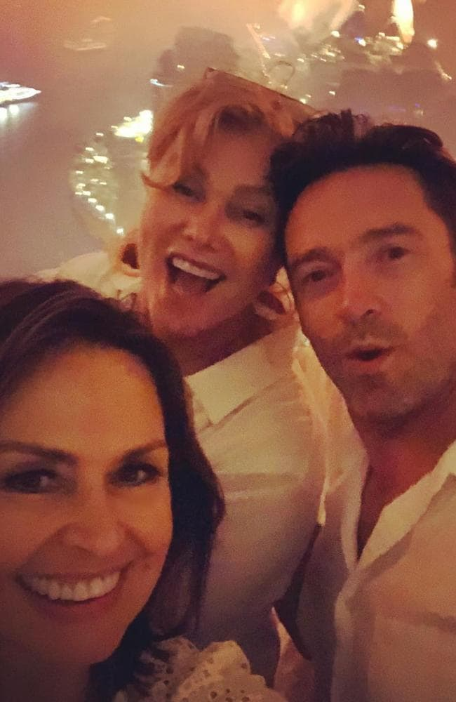 Wilkinson celebrates the new year with Hugh Jackman and Deborra Lee. Picture: Instagram/Lisa Wilkinson