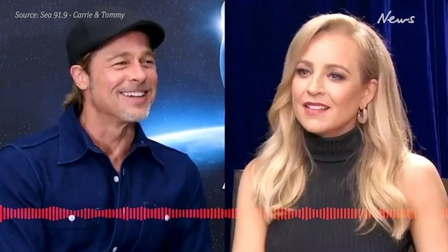 Carrie Bickmore lies to Brad Pitt