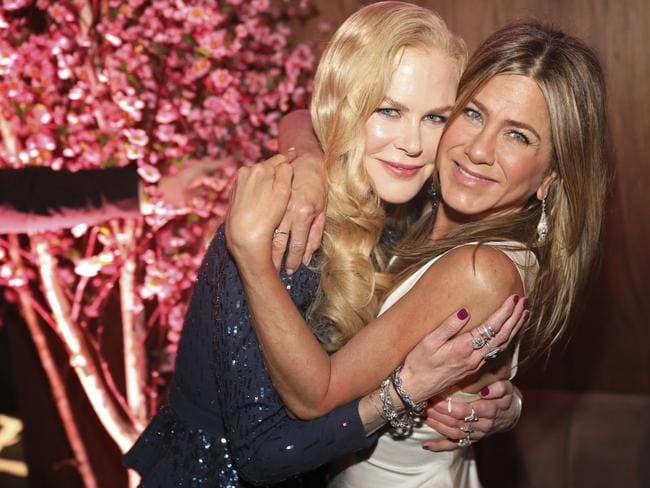 Nicole Kidman and Jennifer Aniston attend the 2020 PEOPLE SAG Awards Afterparty. Picture: Colin Young-Wolf/Invision for PEOPLE Magazine/AP Images