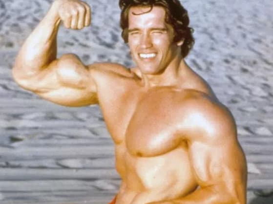 Arnold Schwarzenegger ... word is he has been denied membership to the Dad Bod club. Picture: Supplied