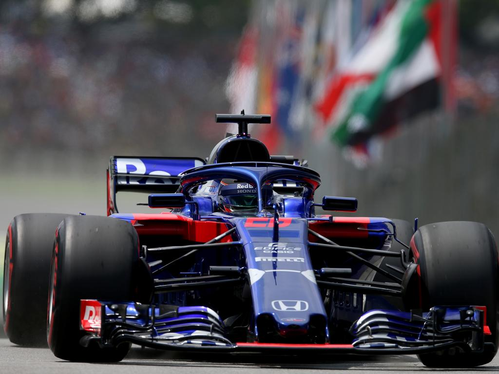 Toro Rosso's Brendon Hartley wasn't happy with his teammate.
